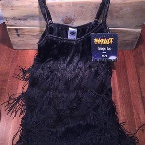 Spirit fringe top black M/L Costume